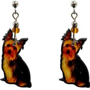 Yorkie Earrings Handmade Yorkshire Dog Unique